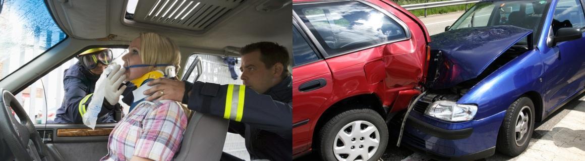 3-Injured woman & Two Car Crash
