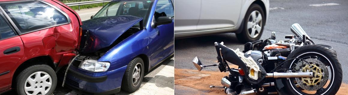 4-Two Car Crash & Motorcycle